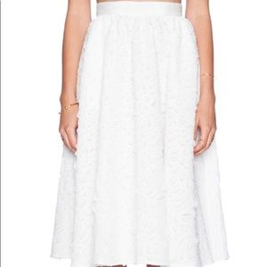 SAM EDELMAN WHITE MIDI SKIRT